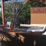 The plunge pool and deck