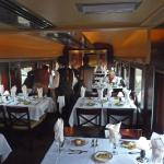 One of the dinning cars