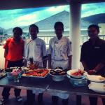 The kitchen staff who prepared our party food AND carried it all the way to the rooftop pool for