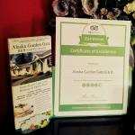 In our entry area, we proudly display our Trip Advisor Certif. of Excellence