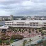 Tampa convention center; Raymond James Stadium far top-right