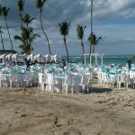 prep for dinning on the beach that evening