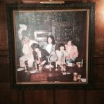 The Rolling Stones picture in the bar