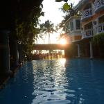 Pool area @ sunset