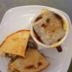 burger patty melt with french onion mushroom soup