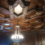 Hand crafted plaster dining room ceiling