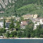 View of the hotel from the lake (on the way to Malcesine)