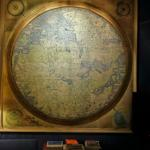 cool old map in reception