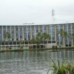 View of the hotel from Coconut Island