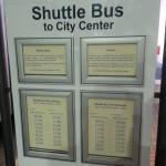 Timetable of the Shuttle