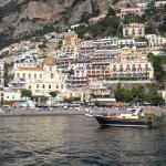 View of hotel & Positano from Ferry