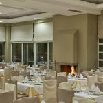 Dinning area fire place