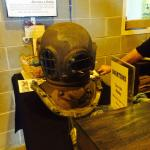 I brought in my 1860's diving helmet, which the staff appreciated.