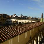 View from room towards Pontevecchio, Arno just out of view