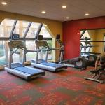Several running machines and weights available