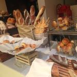 bread selection at breakfast