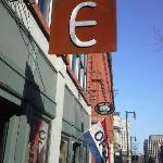 Street view of the Emilitsa sign~ Traditional Greek Fare
