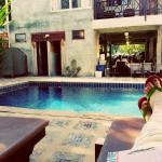 Chilling by the pool at Buri Gallery House