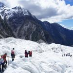 Hiking the glacier with a small group