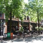 The pretty area of Gastown and its cobblestone streets