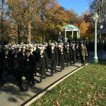 Midshipmen on way to Navy-Marine Corps Memorial Stadium
