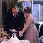 Cutting the cake in the Conservatory