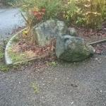 Car park boulders in parking bays