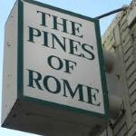 Pines of Rome Sign Hampden Lane.