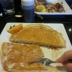 Yummy pancakes at Keke's.