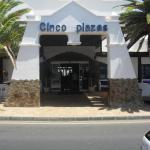 Cinco Plaza Apartments main entrance