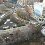 rush hour traffic into the Holland Tunnel (from 19th floor terrace)