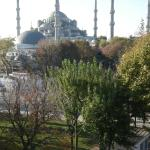Looking straight across to the Blue Mosque from breakfast room