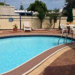 The outdoor Pool and BBQ