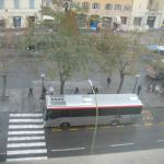 View from the room (Piazza Gramsci bus station)