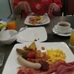 What I chose from the breakfast buffet
