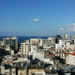 View of Hamra and the sea