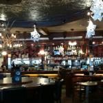 Antlers and the bar.