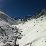 The walk of the valley from sidi chamharouch to toubkal refuge hut