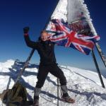 Flying the GB flag on the summit