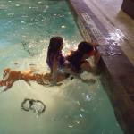 Riding a Mermaid in The Pool