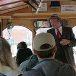 Johnny Mercer on the Old Savannah Tours Trolley