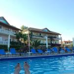 View of the hotel from the pool area