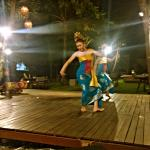 Balinese traditional dancing at anantara