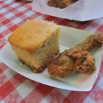 Fried chicken and corn bread