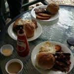 We had a BBQ on our front porch so we cooked up a pretty epic brekky