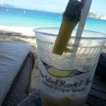 Yummy drink on the beach