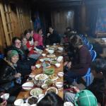 How nice eat with local people in sapa