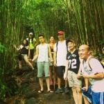 me and my friends in the bamboo forest