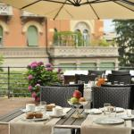 Breakfast on the terrace of our Restaurant San Lorenzo