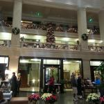 The lobby at Christmas